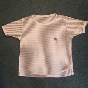 Brandy Melville John Galt striped cherry tee